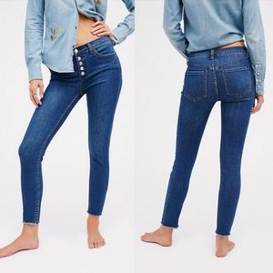 Free People Reagan Button Front Jeans 30